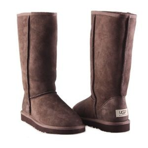 Uggs Brown High Rise Fur Boots